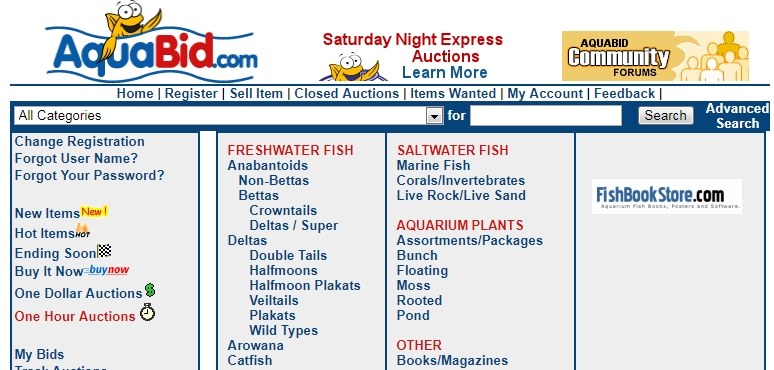 Aquabid is a great place to find and purchase healthy fish directly from breeders.