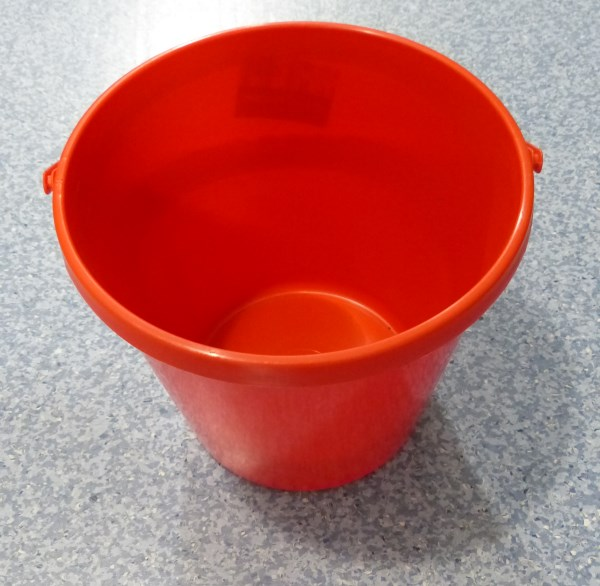 Plastic bucket for changing aquarium water