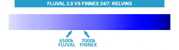 Fluval Plant 3.0 vs. Finnex Planted+ 24/7 CC Difference In Kelvins