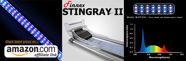finnex stingray 2 ii is an an affordable planted tank led light