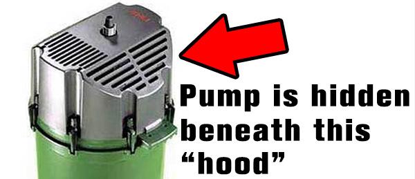 eheim 2262 pump is hidden under the hood
