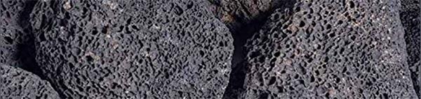 close up of lava rock aquarium filter media
